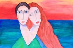 aprivo-solamente-le-finestre-della-mia-camera-ed-entravano-laria-color-blulamore-e-fiori-Marc-Chagall