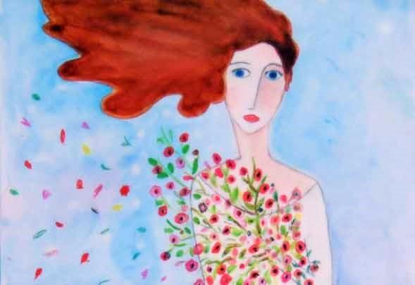 E-primavera acquerello su carta cm 18 x 24