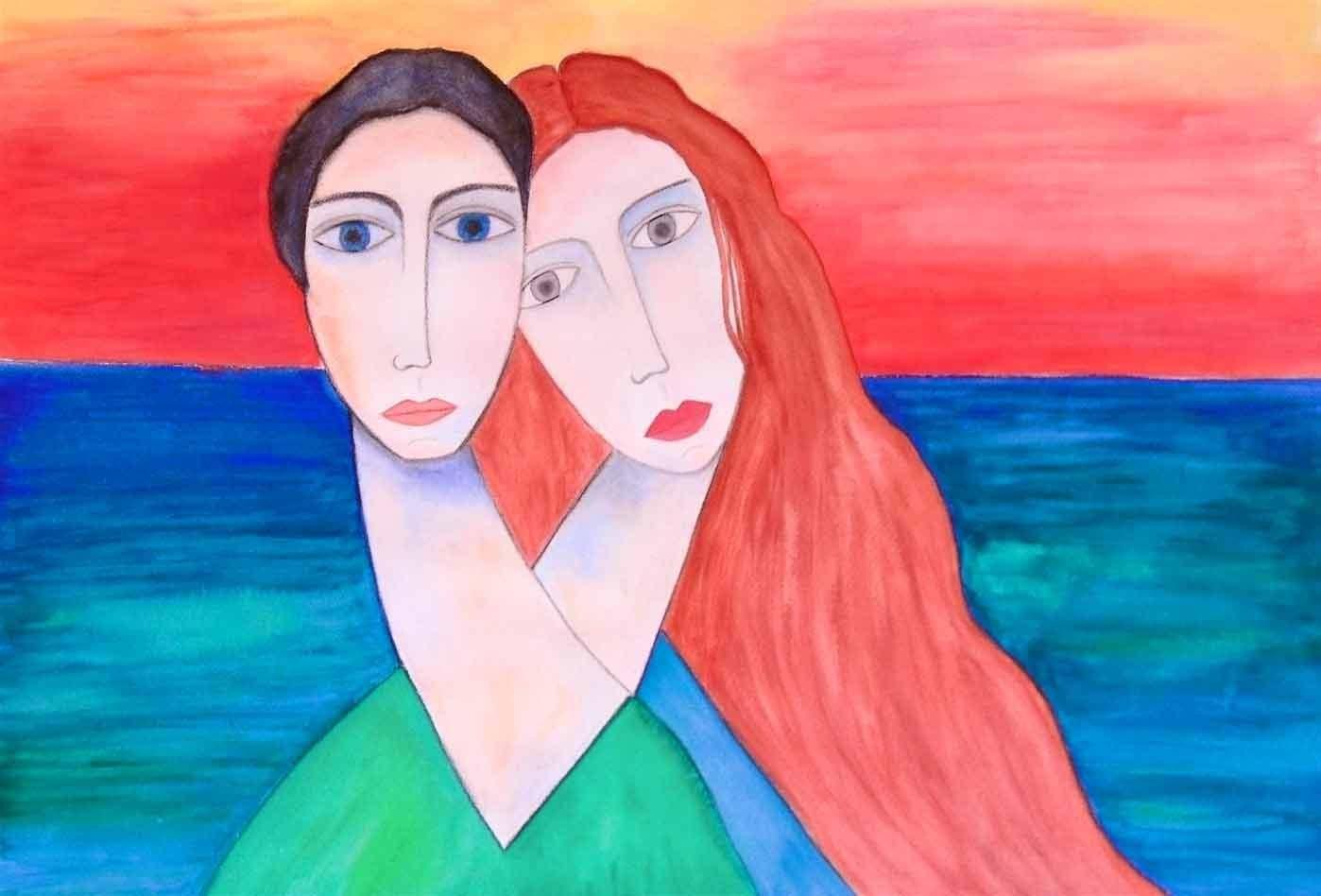 aprivo solamente le finestre della mia camera ed entravano-l'aria-color-blu l'amore-e-fiori-Marc-Chagall