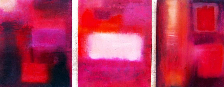 Colore Trittico, olio su tavola formato 120x50.