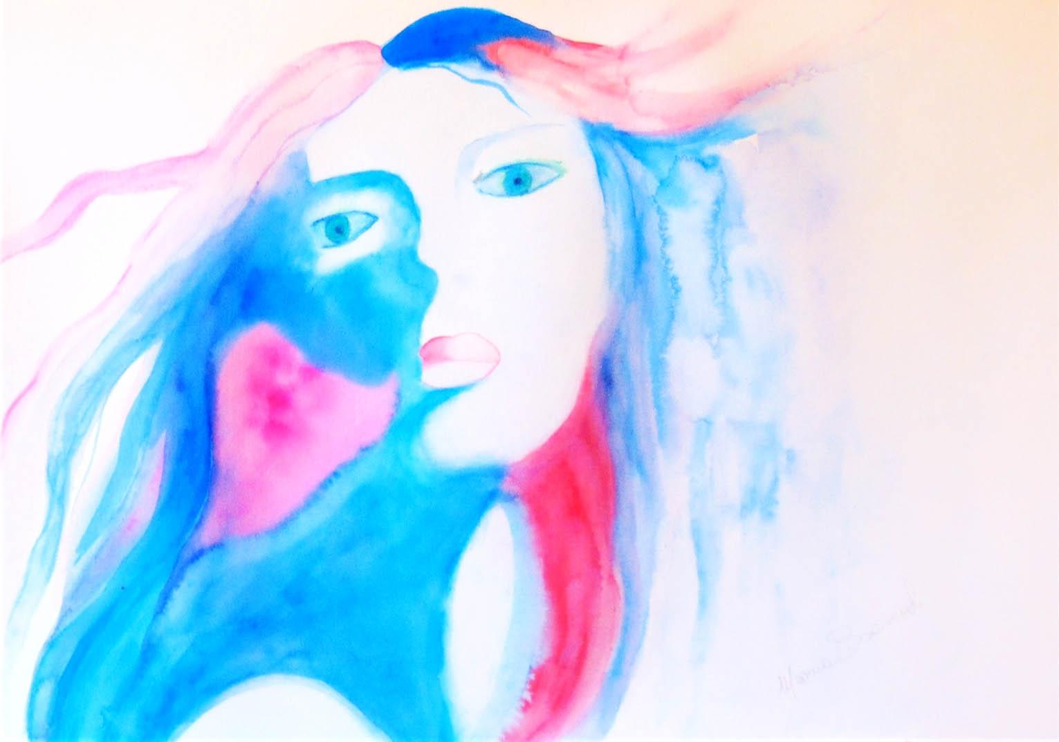 Donna blu